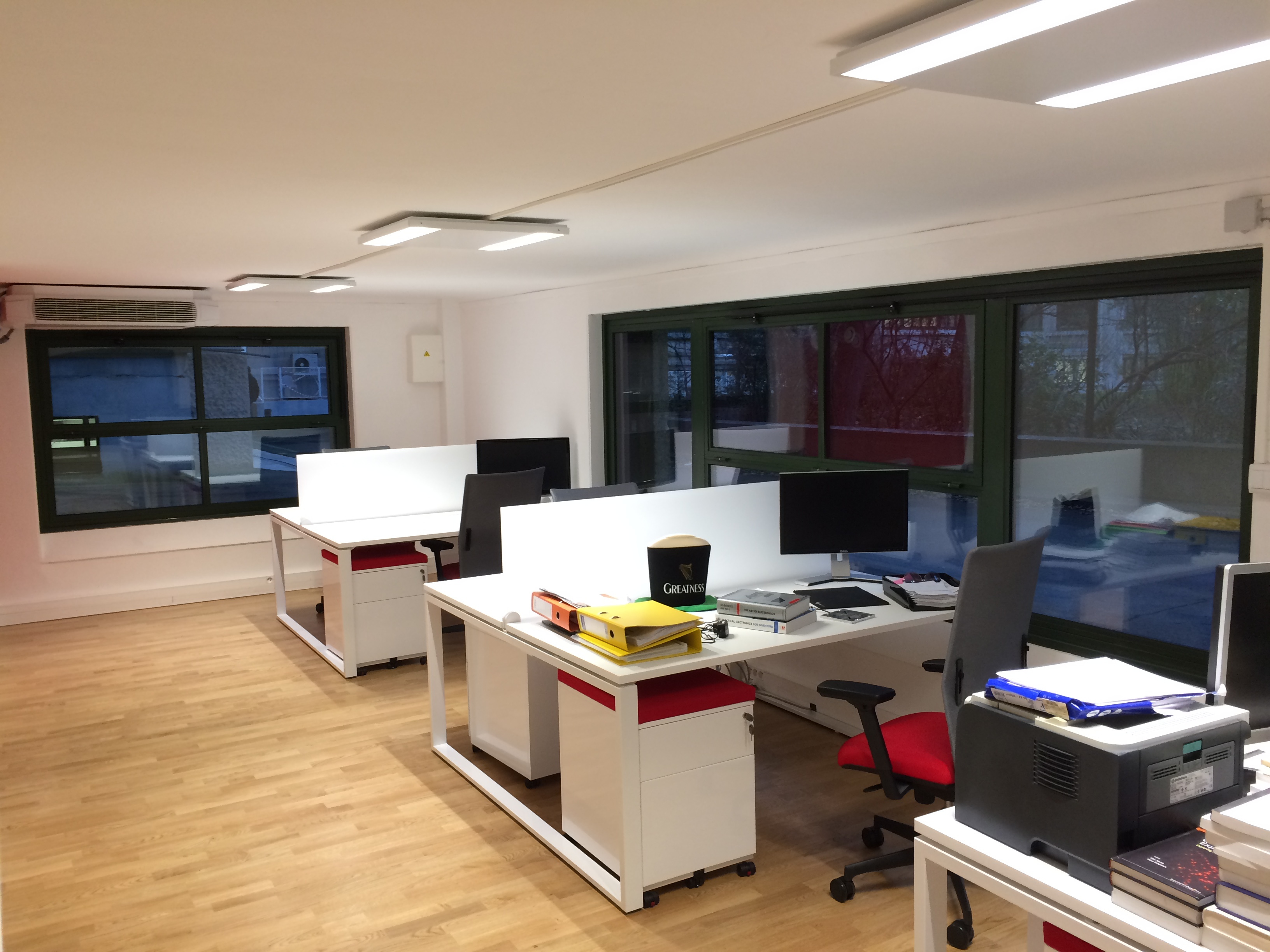 New open floor-plan office